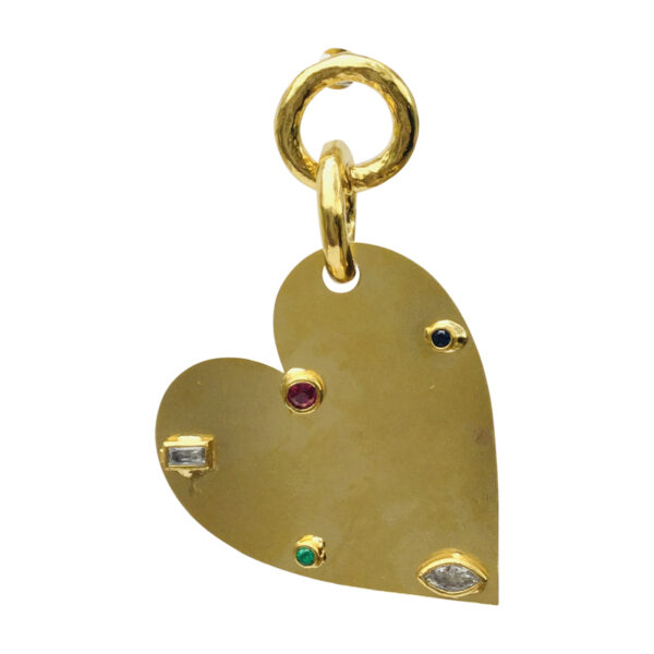 BerNice heart Brass gold plated semiprecious stones