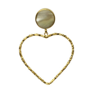 Heart BerNice Brass gold plated semiprecious stones