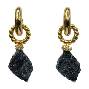 BerNice Brass gold plated resin semi -precious stone