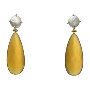 BerNice Sparkling Semiprecious stones brass Gold plated
