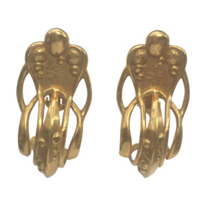 BerNice Haute Couture Runway 80 's designer KHparis Kingdom hearts GoldPlated Clip earring