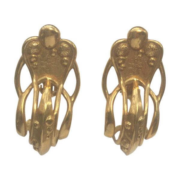 BerNice Haute Couture Runway 80 's designer KHparis Kingdom hearts GoldPlated Clip earring