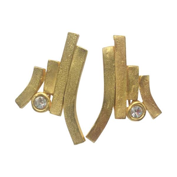 BerNice Vintage Haute Couture Runway 70-80's Il Etait Une Fois jewellers Paris Faux diamond GoldPlated